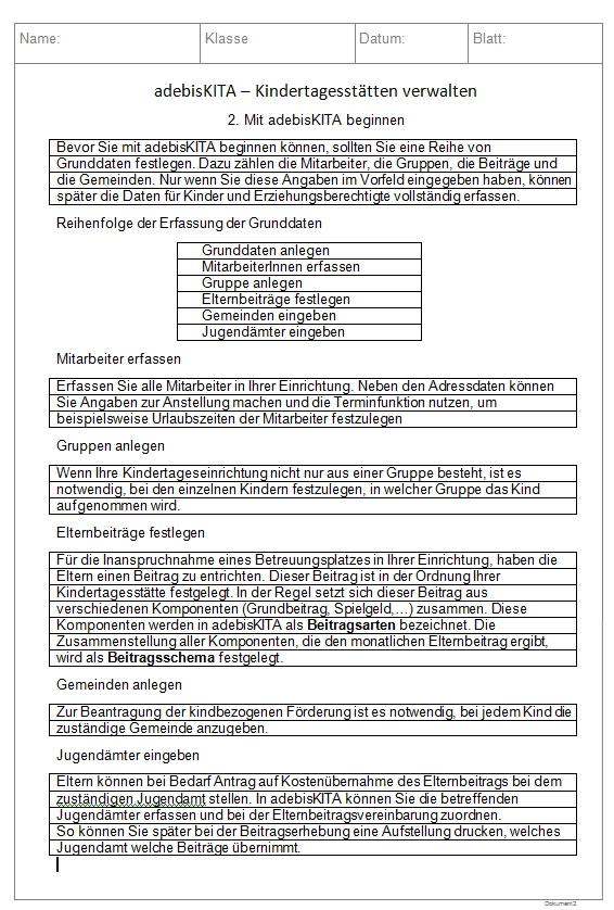 Materialien EDV Unterricht Hauswirtschaft